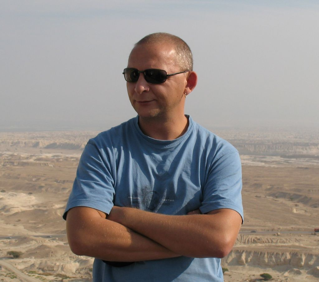 Oleg Kuvaev in the Israeli desert. (Courtesy)