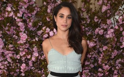 Actress Meghan Markle attends Glamour and L'Oreal Paris Celebrate 2016 College Women of the Year at NoMad Hotel Rooftop on April 27, 2016 in New York City. (Nicholas Hunt/Getty Images for Glamour via JTA)