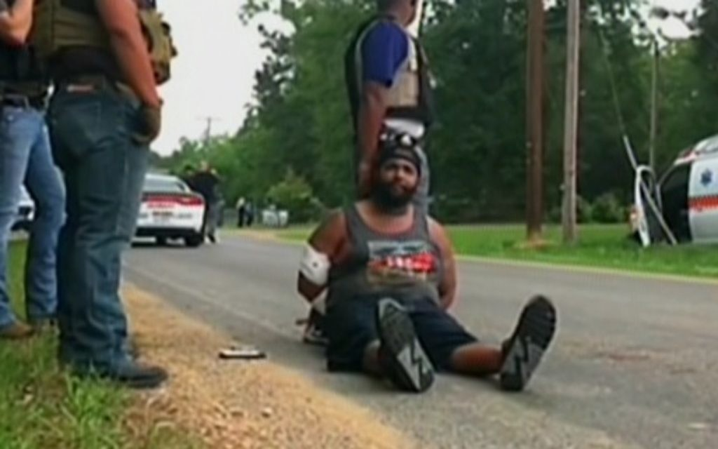 The suspect in the killing of 8 people in Mississippi, May 28, 2017. (Channel 2 screen capture)