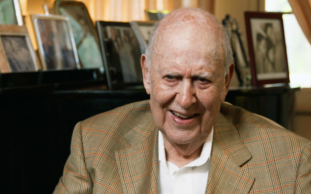 Carl Reiner in the HBO documentary 'If You're Not in the Obit, Eat Breakfast.' (Courtesy of HBO/via JTA)
