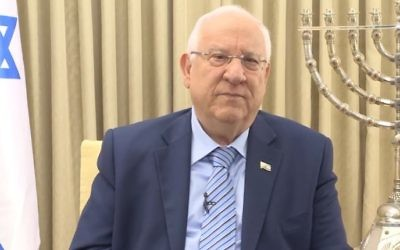 President Reuven Rivlin addresses Israelis and Jews around the world in his Independence Day video announcement on April 27, 2017. (Screen capture/YouTube)