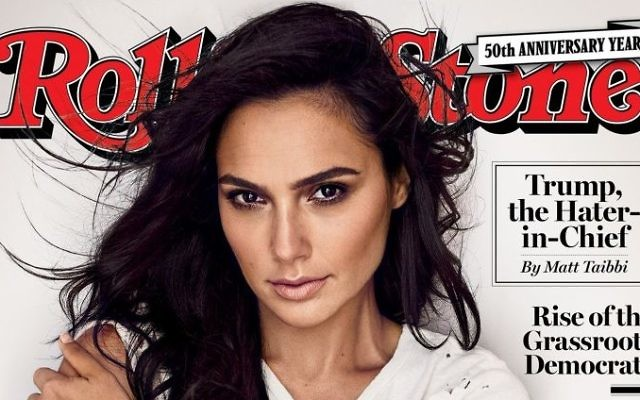 The front page of Rolling Stone magazine featuring Israeli actress Gal Gadot, September 2017.