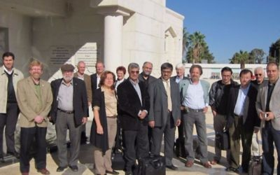 Sesame scientists at the project's headquarters in Jordan. (Courtesy)