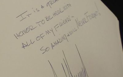 US President Donald Trump's note in the Yad Vashem Holocaust memorial guestbook in Jerusalem. (Courtesy)