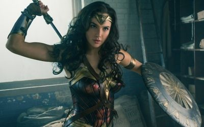 Israeli actress Gal Gadot, star of 'Wonder Woman' (Clay Enos/DC Comics, via JTA)