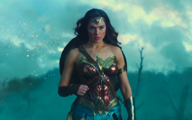 A screenshot of Gal Gadot as Wonder Woman, in the DC Comics film being released in Israel June 1 (Courtesy 'Wonder Woman')