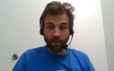 Zooko Wilcox, CEO of Zerocoin Electric Coin Company, which manages Zcash answers questions during a live-streamed interview on YouTube. (Screen capture/YouTube)