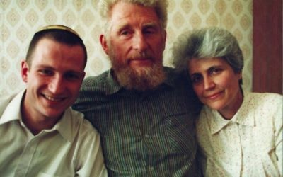 Knesset Speaker Yuli Edelstein with his parents (courtesy)