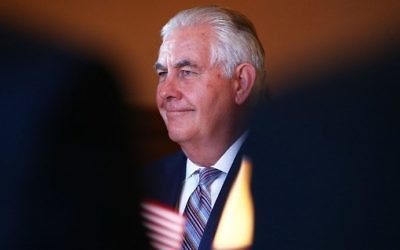 US Secretary of State Rex Tillerson talks during a meeting at Government House in Sydney on June 5, 2017. (AFP Photo/Pool/Mark Metcalfe)