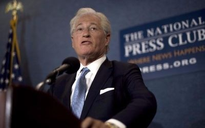 US President Donald Trump's personal attorney Marc Kasowitz delivers a statement to the press in Washington, DC, on June 8, 2017. (Jim Watson/AFP)