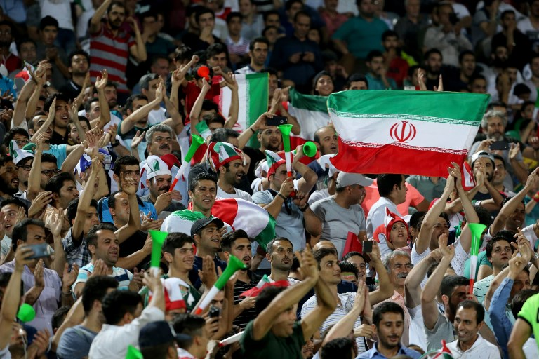 Iran says it's been banned from hosting international soccer