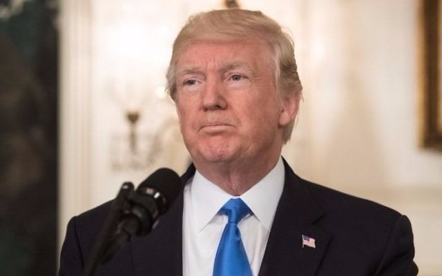 US President Donald Trump delivers a statement in the Diplomatic Room at the White House in Washington, DC, on June 14, 2017, after House Majority Whip Steve Scalise was shot in nearby Alexandria, Virginia. (NICHOLAS KAMM / AFP)