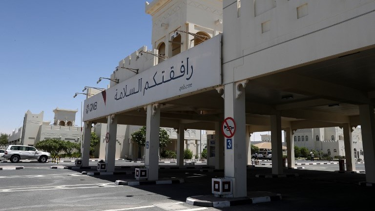 Saudi arabia said seeking to physically cut off qatar from mainland a picture shows the qatari side of the abu samrah border crossing between saudi arabia and malvernweather Images