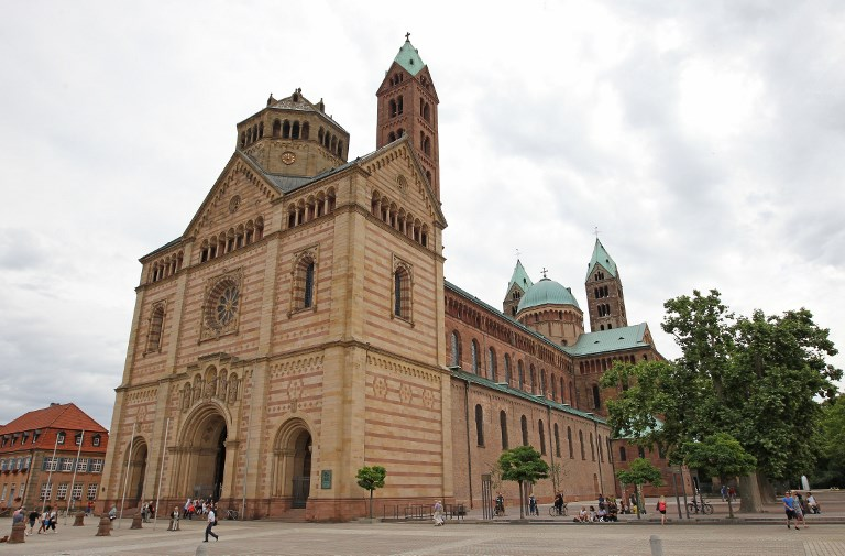 The Cathedral in Speyer, southwestern Germany is pictured on June 27, 2017 where the former chancellor Helmut Kohl (CDU) is to be buried. (AFP PHOTO / Daniel ROLAND)