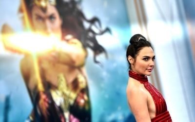 Israeli actress Gal Gadot arrives at the premiere of Warner Bros. Pictures' 'Wonder Woman' at the Pantages Theatre on May 25, 2017, in Hollywood, California. (Frazer Harrison/Getty Images/AFP)