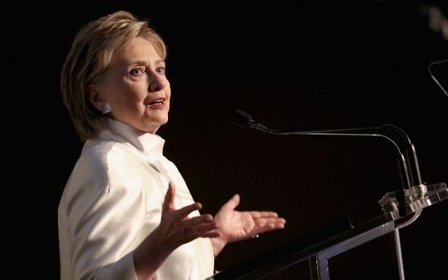 Hillary Clinton speaks at the 2017 Stephan Weiss Apple Awards held in New York City, June 7, 2017. (Monica Schipper/Getty Images for Urban Zen Foundation/AFP)
