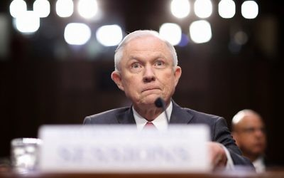 US Attorney General Jeff Sessions testifies before the Senate Intelligence Committee on Capitol Hill June 13, 2017. (Win McNamee/Getty Images/AFP)