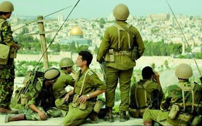 A filmed scene from 'In Our Hands,' the Christian Broadcasting Network docudrama about the Six Day War (Courtesy CBN)