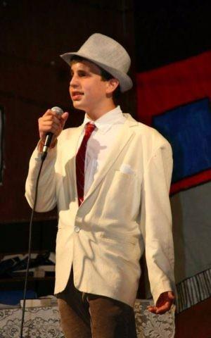 A teenage Ben Platt performs in 'Guys and Dolls' at Camp Ramah in California. (Courtesy Camp Ramah)