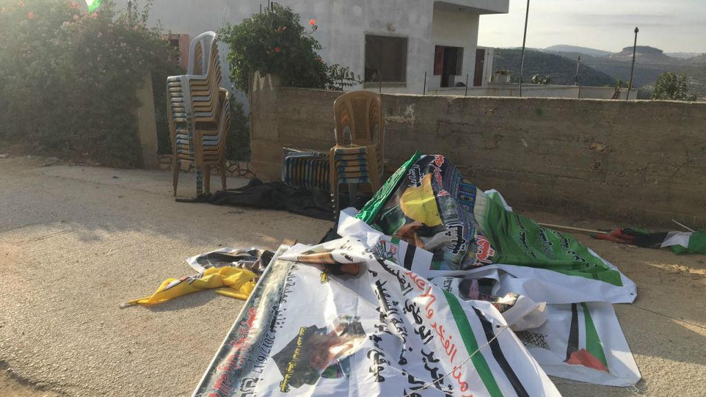 Inciting materials found at the West Bank home of a Palestinian terrorist who participated in the June 16, 2017 stabbing attack in Jerusalem's Damascus Gate that killed Border Police staff sergeant Hadas Malka, in the village of Deir Abu-Mashal near Ramallah, June 21, 2017. (Courtesy IDF)