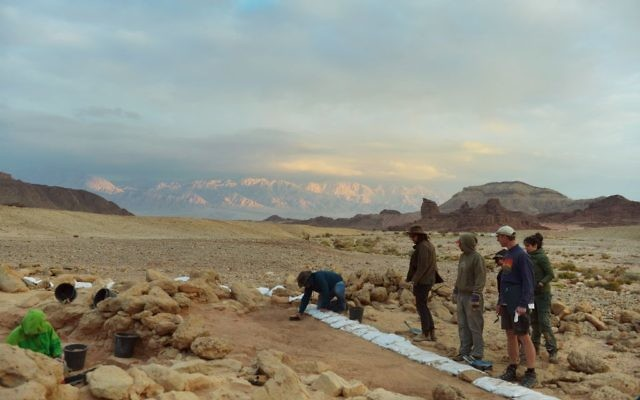 The Timna Valley excavations site (Erez Ben-Yosef, Tel Aviv University)