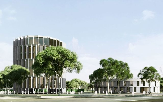 The design of the planned Thessaloniki Holocaust Memorial Museum (Courtesy/Jewish Community of Thessaloniki)
