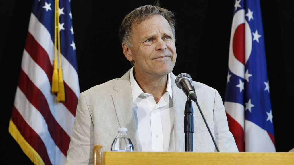 Fred Warmbier, father of Otto Warmbier, a University of Virginia undergraduate student who was imprisoned in North Korea in March 2016, speaks during a news conference, Thursday, June 15, 2017, at Wyoming High School in Cincinnati. (AP Photo/John Minchillo)