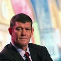 James Packer at a news conference of the Studio City project in Macau, October 27, 2015. (AP Photo/Kin Cheung)