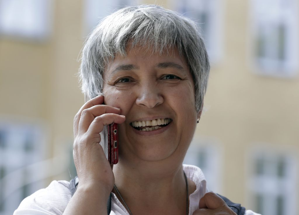 Seyran Ates, founder of the Ibn-Rushd-Goethe-Mosque in Berlin, Germany. (AP Photo/Michael Sohn)