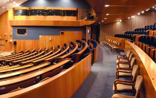 The events auditorium at the Notre Dame Hotel. (Courtesy)