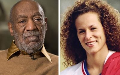 In this combination of file photos, entertainer Bill Cosby pauses during an interview in Washington on Nov. 6, 2014, and Andrea Constand poses for a photo in Toronto on Aug. 1, 1987. (AP Photo/Evan Vucci, left, and Ron Bull/Toronto Star/The Canadian Press via AP, right)