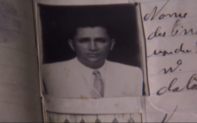 A screenshot of a document from a Brazilian documentary on how the Brazilian government refused visa requests for some 16,000 Jews during Nazi era. (Screen capture: TV Brasil -- EBC)