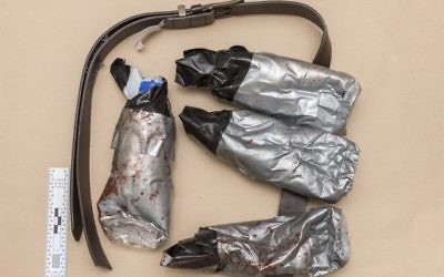 An undated handout photo issued by the Metropolitan Police, London, and made available on Sunday June 11, 2017 of a fake suicide belt worn by one of the London Bridge attackers in the attacks of Saturday June 3 which killed several people and wounded dozens more. (Metropolitan Police London via AP)