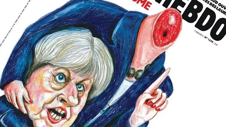 Charlie Hebdo 'severs' Theresa May's head | The Times of Israel