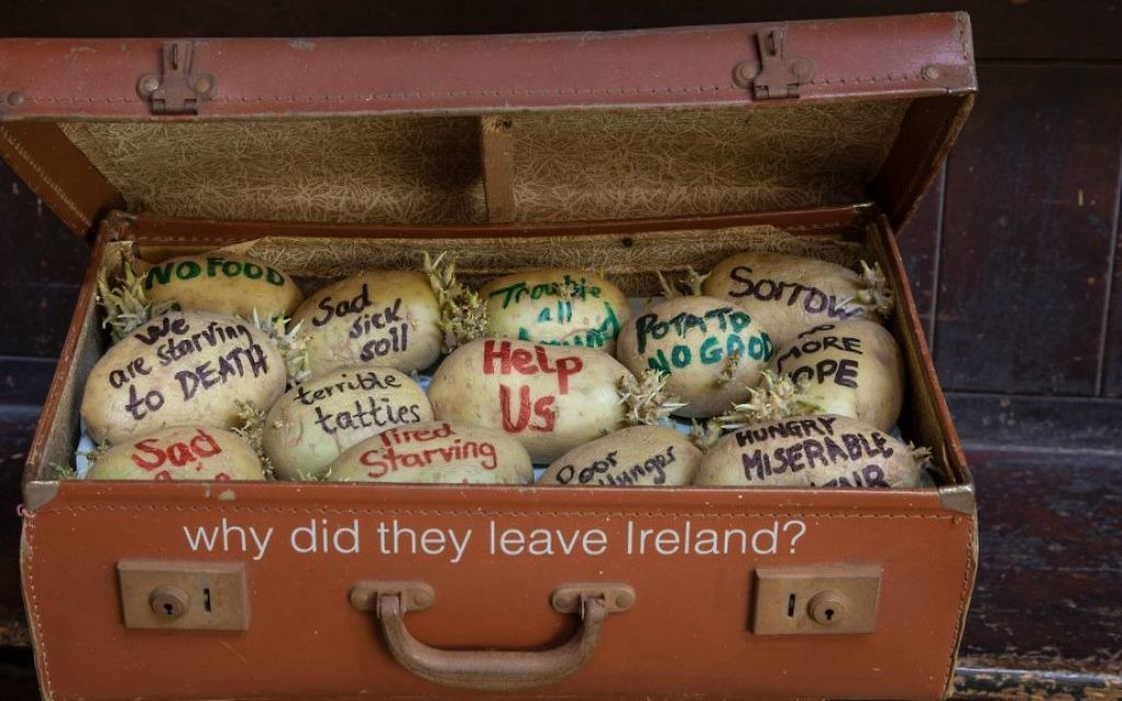 An empathy-building piece on why the Irish immigrated to England at London's Museum of Immigration and Diversity. (Ed Marshall/19 Princelet Street)