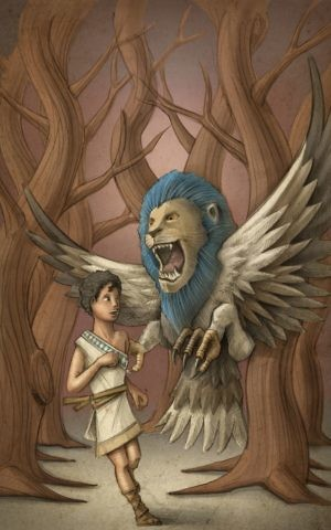From 'Young Gilgamesh and the Enchanted Garden,' illustration by Uriel Zohar. (Courtesy)