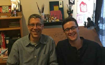 Steven Nadler, left, and Ben Nadler, the father-son duo who wrote 'Heretics! The Wondrous (and Dangerous) Beginnings of Modern Philosophy.' (Courtesy the Nadlers)