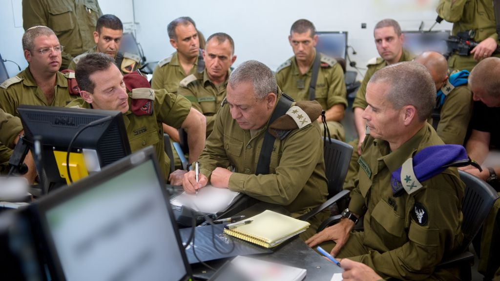 IDF Chief of Staff Gadi Eisenkot visits a surprise exercise in northern Israel in early June 2017. (IDF Spokesperson's Unit)