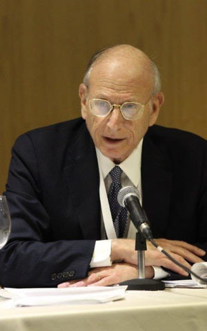 Jewish People Policy Institute co-chair former ambassador Stuart Eizenstat (courtesy JPPI)
