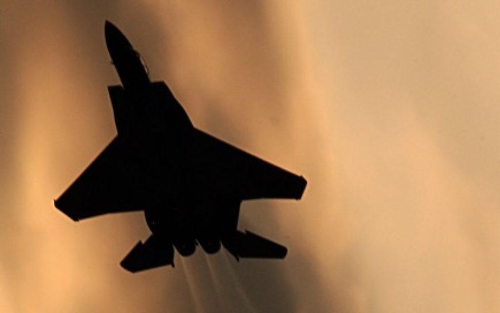 Illustrative. An Israeli F-15 fighter jet. (Tsahi Ben-Ami/Flash90)