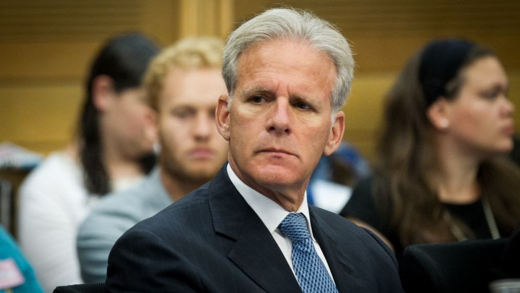 Kulanu MK Michael Oren, who would later that year be appointed as Deputy Minister in the Prime Minister's office in charge of public diplomacy, seen here on June 20, 2016. (Miriam Alster/Flash90)