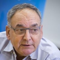 Prof. Zeev Rotstein, CEO of Hadassah Hospital, speaks during a press conference to introduce the new medical team at the hospital's hemato-oncology department,  June 13, 2017. (Hadas Parush/Flash90)