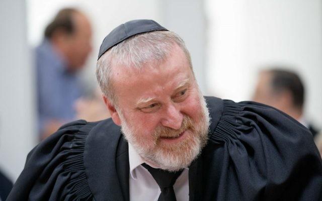 Attorney General Avichai Mandelblit attends a ceremony in Jerusalem, June 13, 2017. (Yonatan Sindel/Flash90)
