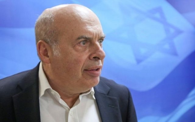 Jewish Agency Chairman Natan Sharansky arrives at the weekly cabinet meeting at the Prime Minister's Office in Jerusalem on June 25, 2017. (Marc Israel Sellem/Pool/Flash90)