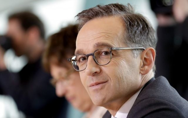 In this April 5, 2017 file photo, German Justice Minister Heiko Maas attends the weekly cabinet meeting at the chancellery in Berlin, Germany. (AP Photo/Michael Sohn, file)