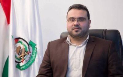 Hamas spokesman Hazem Qassem. (via http://hamas.ps/ar/post/7455)