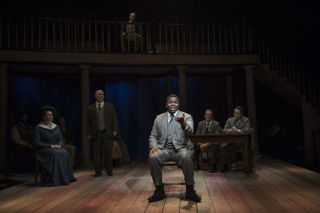 Jonathan Butler-Duplessis and cast in 'Parade.' (Michael Brosilow)