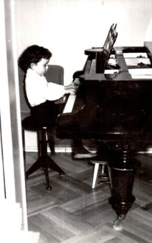 Evgeny Kissin at the piano, aged three. (Courtesy)