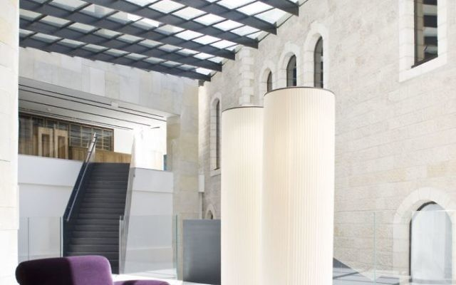 Lobby of the Mamilla Hotel. (Courtesy)