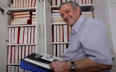 David Kroyanker and his archive on Jerusalem, Tel Aviv, 2013 (Yossi Aloni)